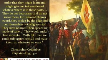 Christophe Colomb meurtrier de masse par Mohawk Nation News
