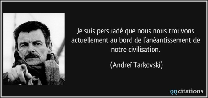 Andreï Tarkovski, cinéaste, poète de l'image et révélateur de la vie, 60ème…
