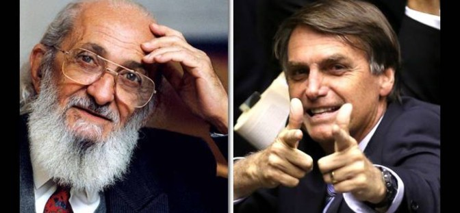 Jair Bolsonaro CONTRE Paulo Freire ; Prêt à servir ses maitres pour les 4 ans qui viennent…