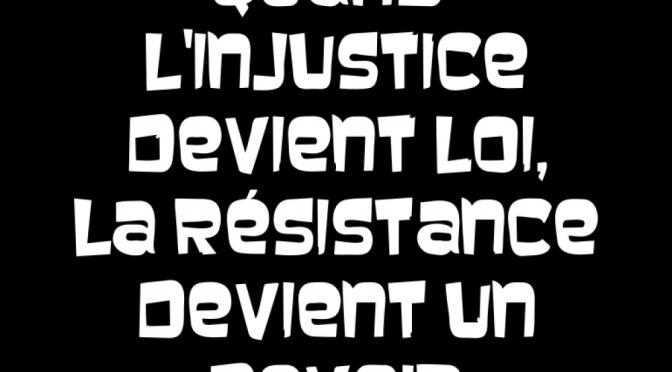 POUR un Réseau de Résistance et de Rébellion International ou 3RI…