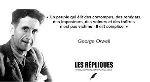 Tout peuple qui élit des corrompus, des renégats, des imposteurs, des voleurs et des traitres, n'est pas victime !