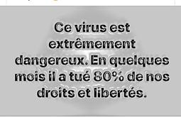 coronavirus a tué 80p100 de nos droits et libertés