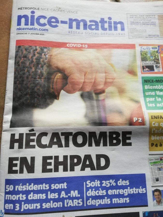hecatombe en ehpad janvier 2021