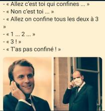 Macron et Castex, t'as pas confiné