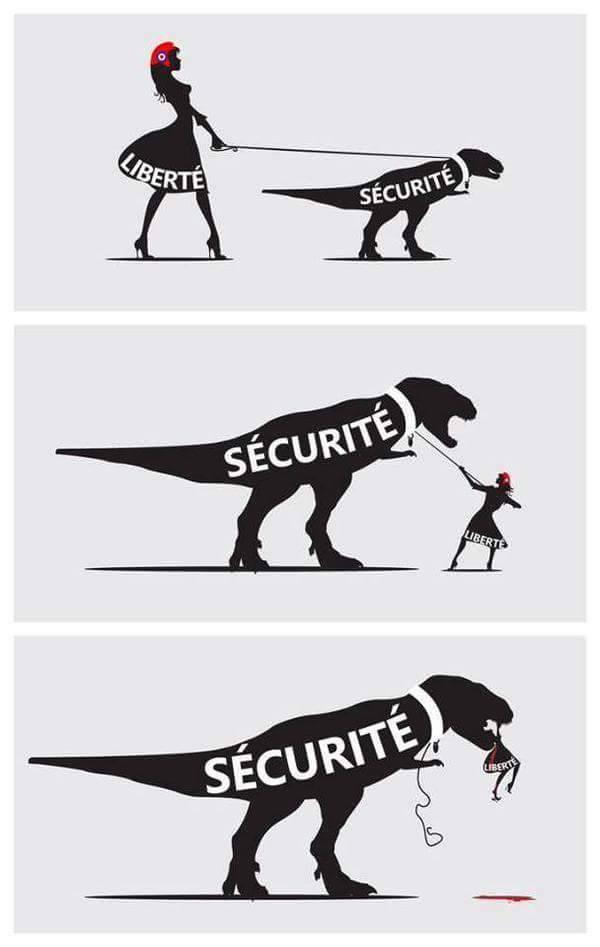 qd securite fini par bouffer liberte