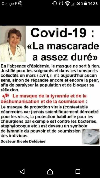 DR NICOLE DELEPINE STOP MASCARADE