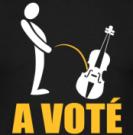 A VOTE PISSER DANS UN VIOLON