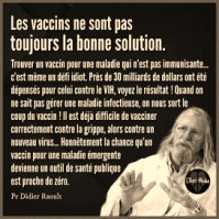 Dr Raoult sur les vaccins